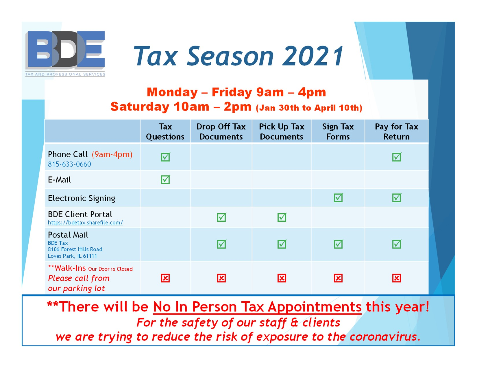 BDE Tax and Professional Services